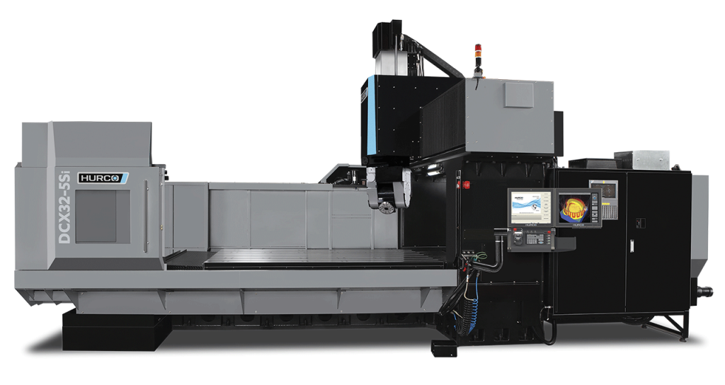 HURCO DCX32-5Si Five Axis 5-Axis Double Column Machining Center, DCX Series The dual column DCX32-5Si and DCX32-5CSi are the only machines in its class with the integrated Hurco control powered by WinMax. The double column design provides superior dynamic behavior and promotes thermal stability. Our control technology combined with our stringent design and manufacturing processes make the DCX32-5Si and 5CSi an excellent investment. Exceptional cutting feed rates are achieved with patented high-speed motion technology – resulting in the fastest cut with the best surface finish